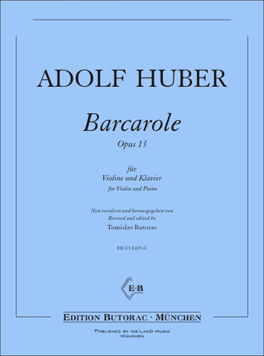 Cover - Barcarole, op. 13