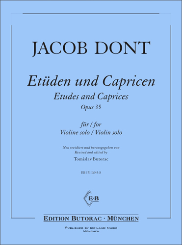 Cover - Jacob Dont, Etüden und Capricen op. 35