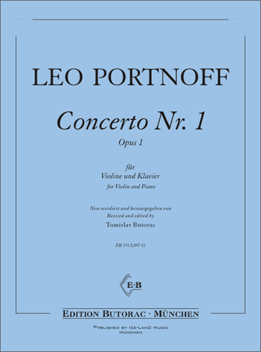 Cover - Portnoff Concerto Nr. 1, g-moll, op. 1